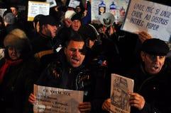 De Protesten van Boekarest - 19 januari 2012 - 19 Stock Fotografie