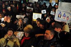 De Protesten van Boekarest - 19 januari 2012 - 20 Stock Fotografie