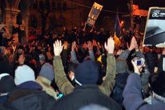 De Protesten van Boekarest - 19 januari 2012 - 4 Stock Afbeelding