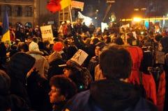 De Protesten van Boekarest - 19 januari 2012 - 6 Stock Fotografie