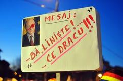 De Protesten van Boekarest - 23 januari 2012 Stock Afbeeldingen