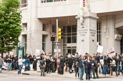 De Protesten van de anti-psychiatrie in Philadelphia, Mei 2012 stock afbeelding