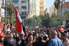 De Protesten van Egypte Stock Afbeeldingen