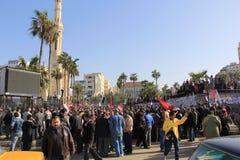 De Protesten van Egypte \ \ \ 's Stock Afbeelding