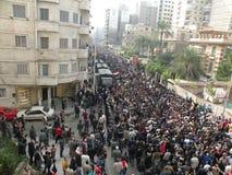 De protesten van Egypts Stock Afbeeldingen