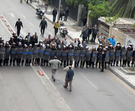 De protesten van Egypts Stock Foto