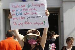 De Protesten van Istanboel Taksim Royalty-vrije Stock Foto's