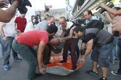 De Protesten van Istanboel Taksim Stock Foto's
