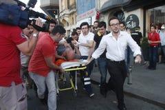 De Protesten van Istanboel Taksim Stock Afbeelding