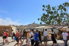 De Provence CÃ'te d'Azur, de Oude haven van Frankrijk - van Marseille Royalty-vrije Stock Afbeeldingen