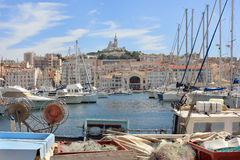 De Provence CÃ'te d'Azur, de Oude haven van Frankrijk - van Marseille stock foto's