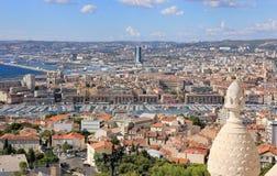 De Provence CÃ'te d'Azur, Frankrijk - mening over Marseille stock afbeelding