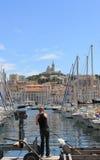 De Provence CÃ'te dAzur, de Oude haven van Frankrijk - van Marseille Stock Foto