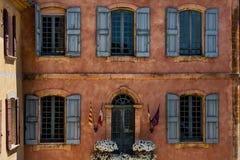 De Provence en hun oude dorpsvensters Royalty-vrije Stock Foto's