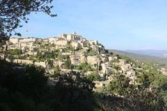 De Provence, Lubéron, Frankrijk stock afbeeldingen