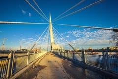 De Provencher-Brug in Winnipeg stock foto's