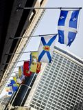 De Provinciale Vlaggen van Canada Stock Afbeeldingen
