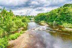 De Provincie Durham van riviert-stukken in Engeland Royalty-vrije Stock Afbeeldingen
