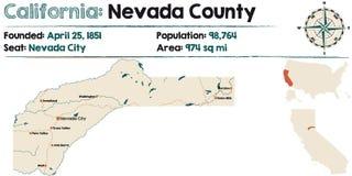 De provincie van Californië - van Nevada royalty-vrije illustratie