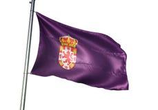 De Provincie van Cordoba van de Vlag van Spanje golven geïsoleerd op witte realistische 3d illustratie als achtergrond vector illustratie