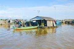 De provincie van Kampongchhnang de het huis dichtbij kongrie berg van de makongrivier in koninkrijk van Kambodja dichtbij de gren Stock Fotografie