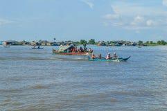 De provincie van Kampongchhnang de het huis dichtbij kongrie berg van de makongrivier in koninkrijk van Kambodja dichtbij de gren Royalty-vrije Stock Afbeeldingen