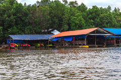 De provincie van Krabi, Thailand Kayakingspost Mangrovewildernis Stock Fotografie