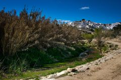 De provincie van Setenil de las Bodegas, Cadiz, Andalucia, Spanje royalty-vrije stock afbeelding