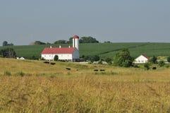 De provincielandbouwbedrijf van Lancaster Stock Afbeeldingen