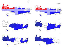 De provincieskaarten van Kreta Royalty-vrije Stock Foto