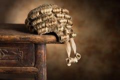 De pruik van de advocaat stock foto