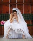 De pruilende Bruid! Royalty-vrije Stock Foto