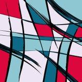De psychedelische gekleurde vectorillustratie van het graffitipatroon Stock Foto's