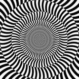 De psychedelische optische achtergrond van de rotatieillusie royalty-vrije stock foto