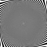 De psychedelische optische achtergrond van de rotatieillusie stock afbeeldingen