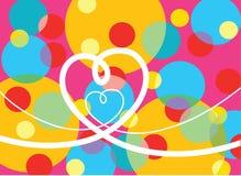 De psychedelische pop liefde van de puntenlijn Stock Afbeelding