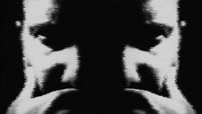 De psychopaat van de zenuwinstortingschizofrenie en de geestelijke samenvatting van de gezondheidswanorde stock footage