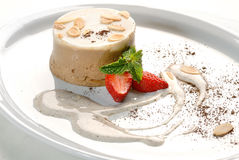De pudding van Coffe Stock Foto's