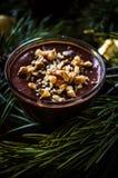 De pudding van de dessertchocolade Stock Fotografie