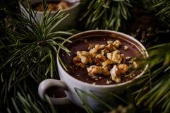 De pudding van de dessertchocolade Royalty-vrije Stock Afbeeldingen