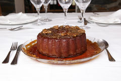De pudding van de pompoen met noten Stock Foto's