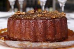 De pudding van de pompoen met noten royalty-vrije stock foto's