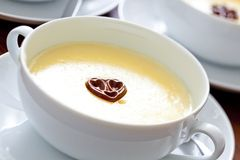 De pudding van de vanille Royalty-vrije Stock Foto's
