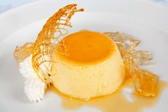 De pudding van de vanille met slagroom royalty-vrije stock foto's