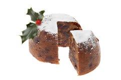 De pudding van Kerstmis stock foto