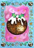 De Pudding van Kerstmis stock illustratie