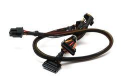 De puissance six bornes au câble de branche périodique de puissance d'ATA de quinze bornes photo libre de droits