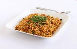 De Puliyogare plato vegetariano tradicional indio del arroz al sur Fotografía de archivo libre de regalías