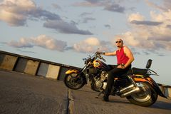 De Punker van de motorfiets Royalty-vrije Stock Foto's