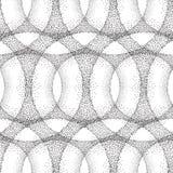 De punt betegelde textuur van de patroon Abstracte lineaire cirkel Royalty-vrije Stock Foto's